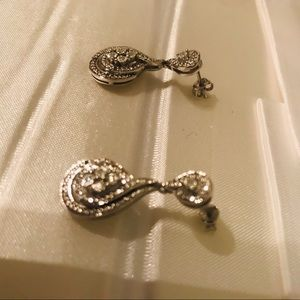 Diamond and sterling silver earrings!!